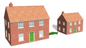 Large house to small house