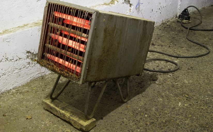 old rusty space heater
