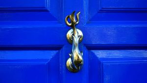 brass accent door knocker
