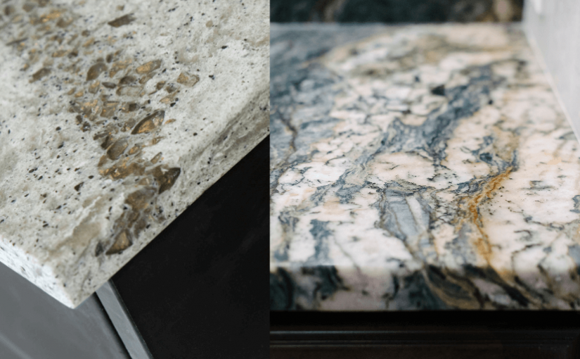 quartz and granite countertops