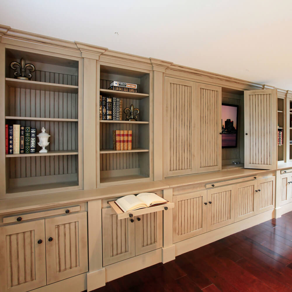hiding tv in cabinet