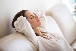 woman enjoying peace and quiet