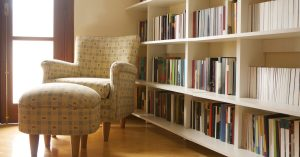 home library reading nook study